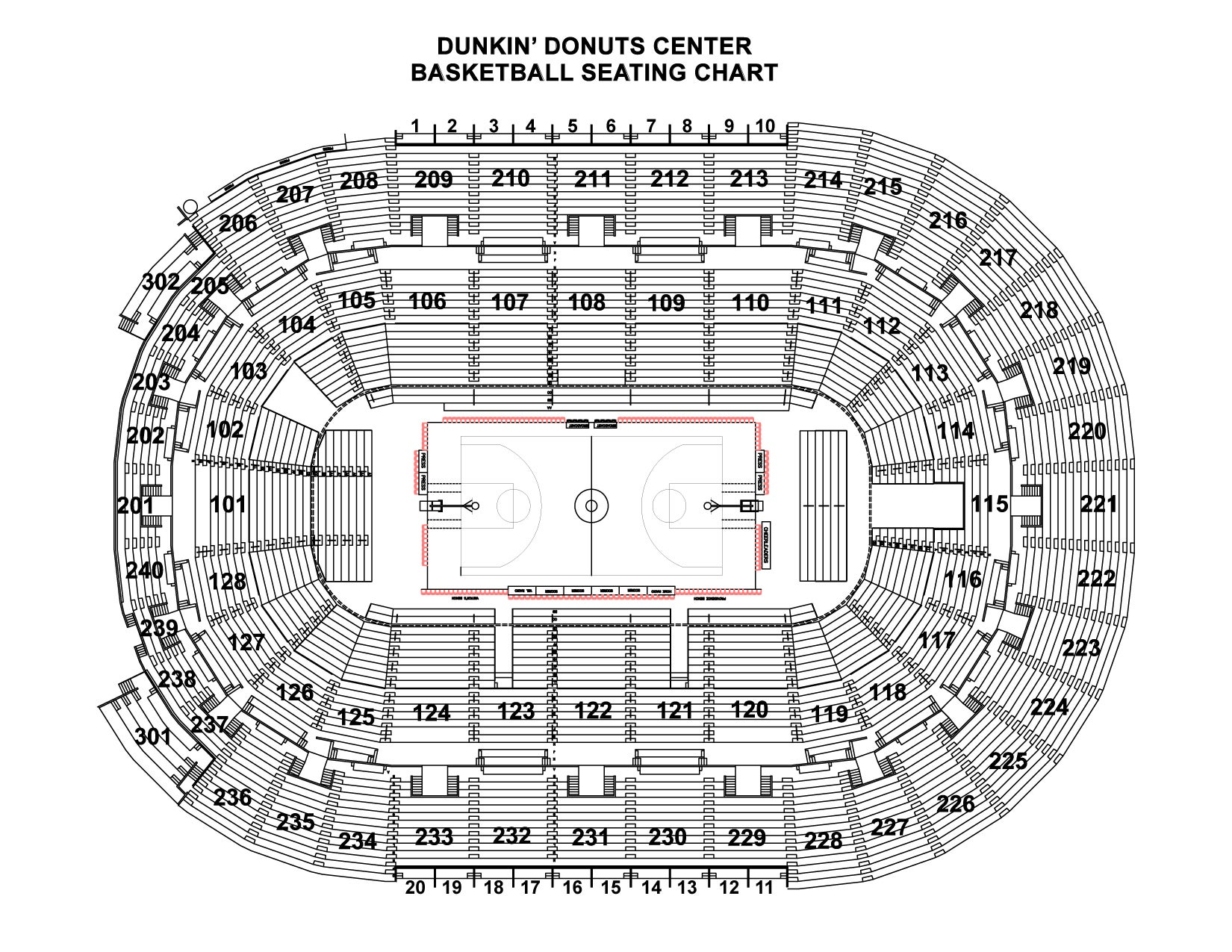 Basketball Seating Chart
