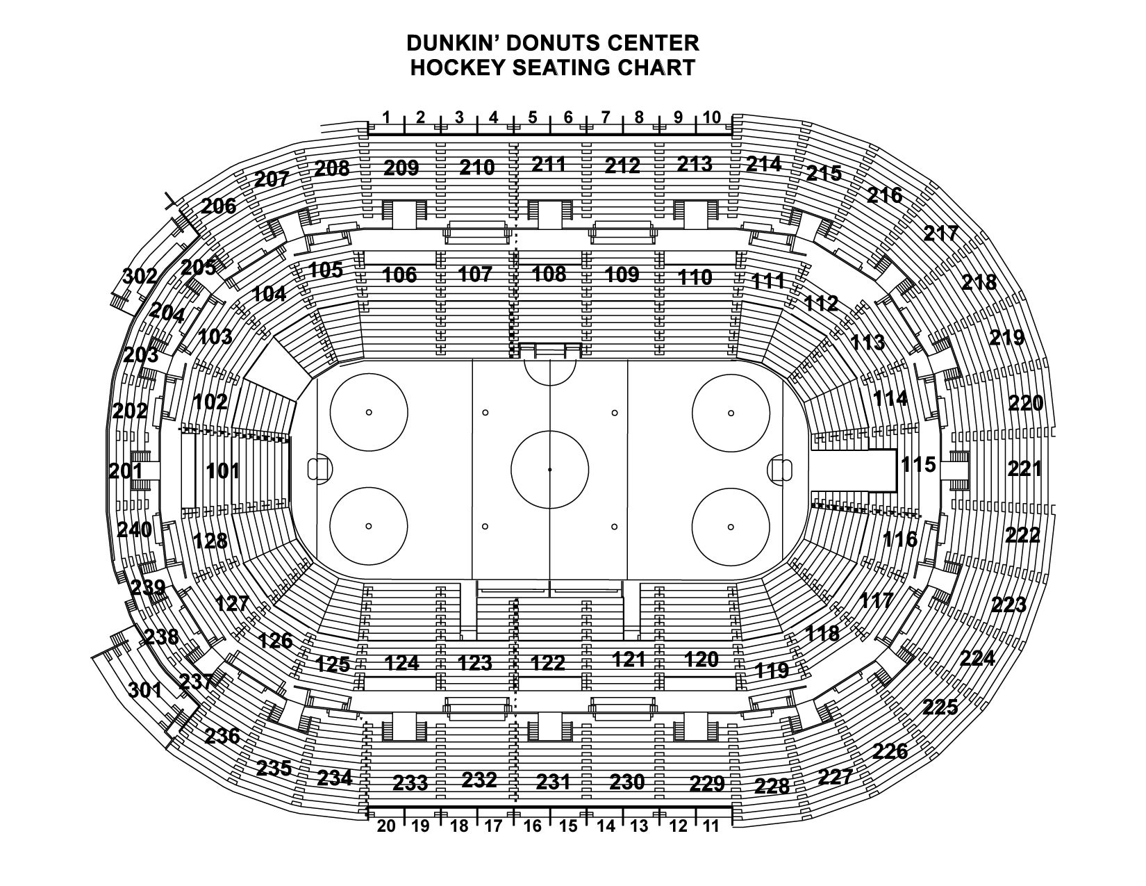 Ice Hockey Seating Chart