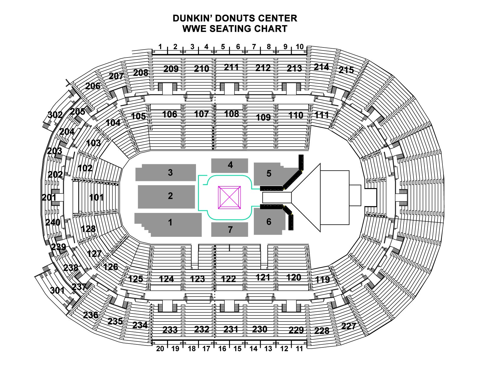 WWE Seating Chart