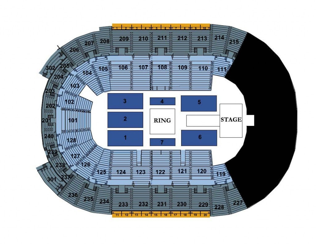 Wrestling Seating Chart