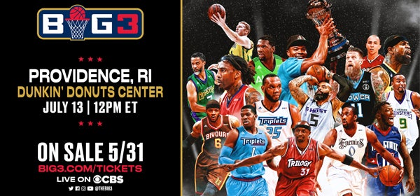 Big3 Basketball comes to the Dunkin' Donuts Center July 13
