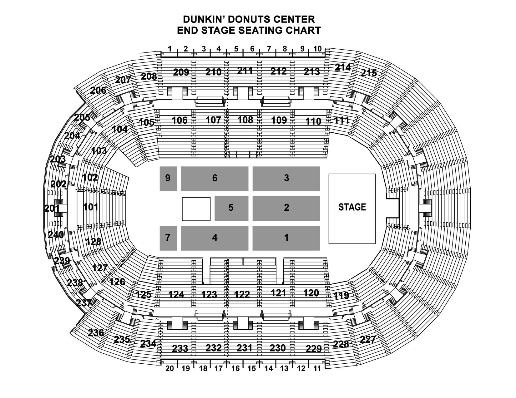 End Stage Seating Chart