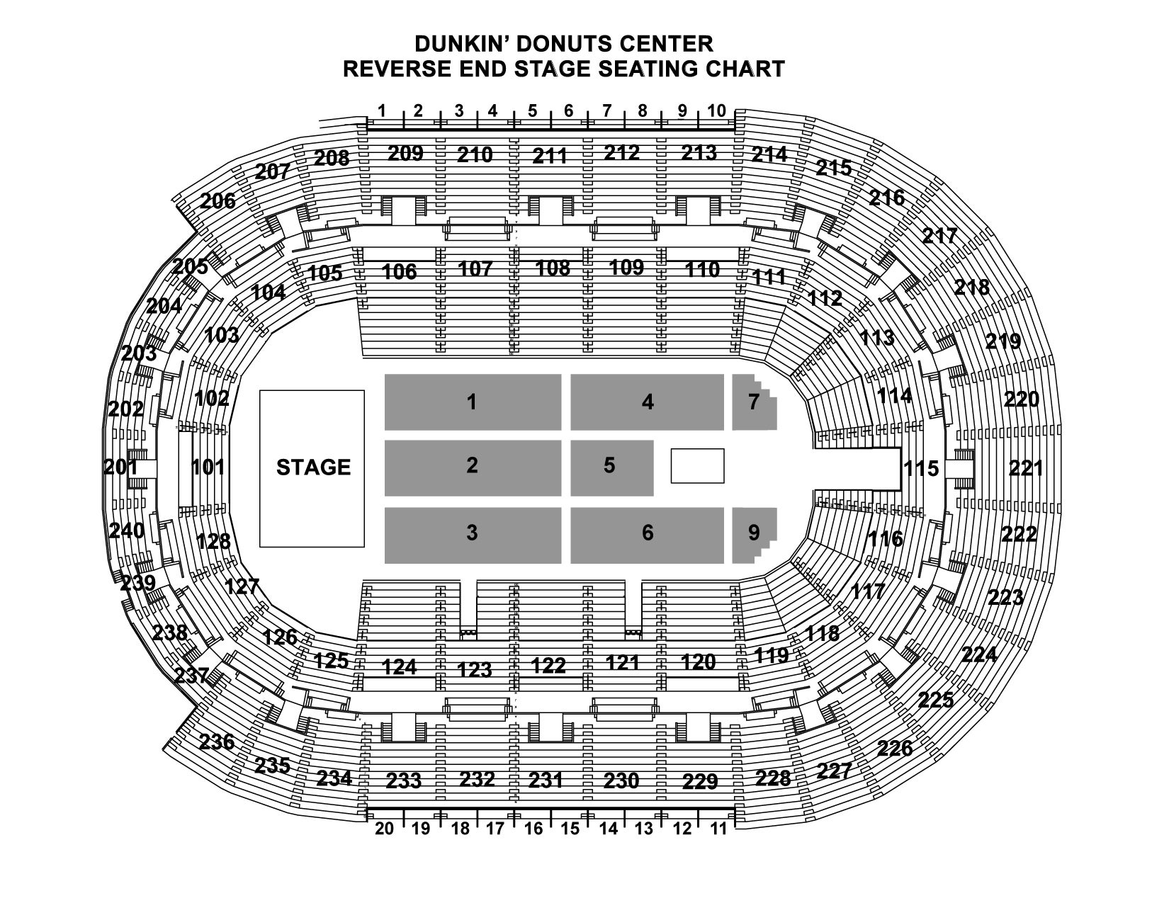 Reverse End Seating Chart